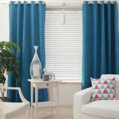 Solid Linen Blackout Curtains