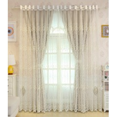 Mix and Match Blue/Gray/Baby Pink Curtain Set