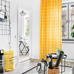 Black/Yellow Chevron Curtains