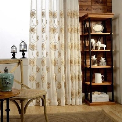 Circle Embroidered Tulle Curtains
